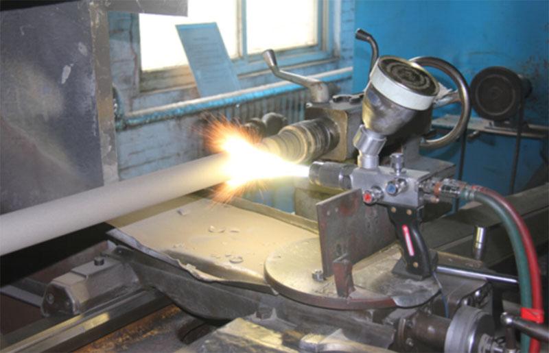 oil well pump plunger spray welding