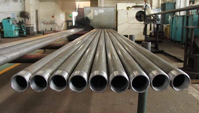 Long plunger and anti falling tubing pump barrel