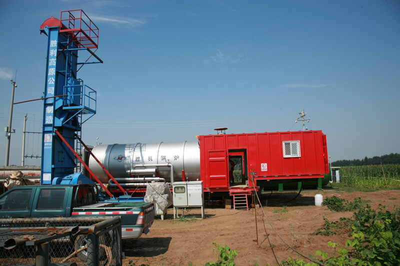 heavy oil well with high salinity and easy corrosion